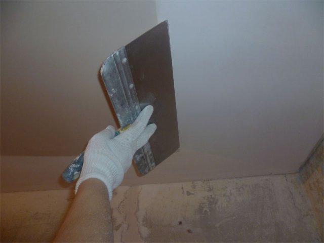 Как правильно шпаклевать потолок из гипсокартона под покраску