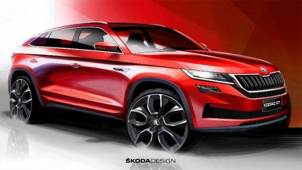 Skoda рассекретила салон «заряженного» кроссовера Skoda Kodiaq GT