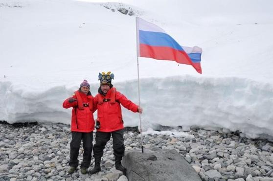 Тюменский морж рассказал о первом заплыве в водах Антарктиды