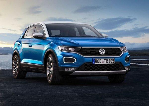 «Заряженный» кроссовер Volkswagen T-Roc показали на видео
