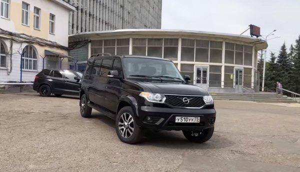 «Кортеж» для простаков: УАЗ «Патриот» в кузове лимузин покорил сеть