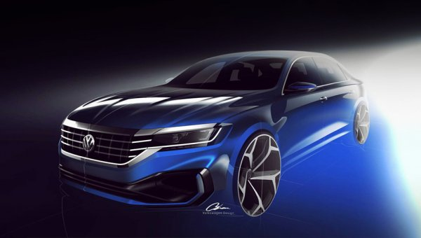 Показаны первые изображения нового Volkswagen Passat