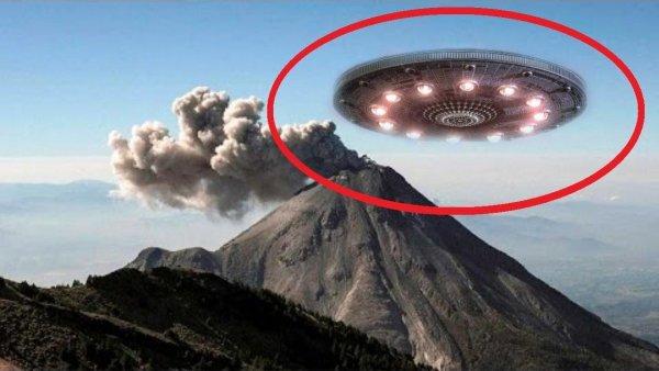 Гигантский НЛО показался в момент извержения вулкана Везувия – уфологи