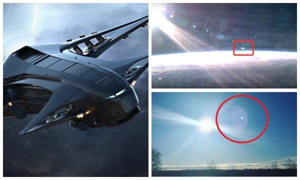 Зависшая над Кировском Нибиру решила устроить «кровавую» Пасху – Астронавты МКС засняли у Солнца летящие корабли-ангелы