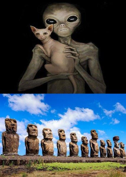 Статуи на острове Пасхи построили не аборигены, а инопланетяне для управления землянами