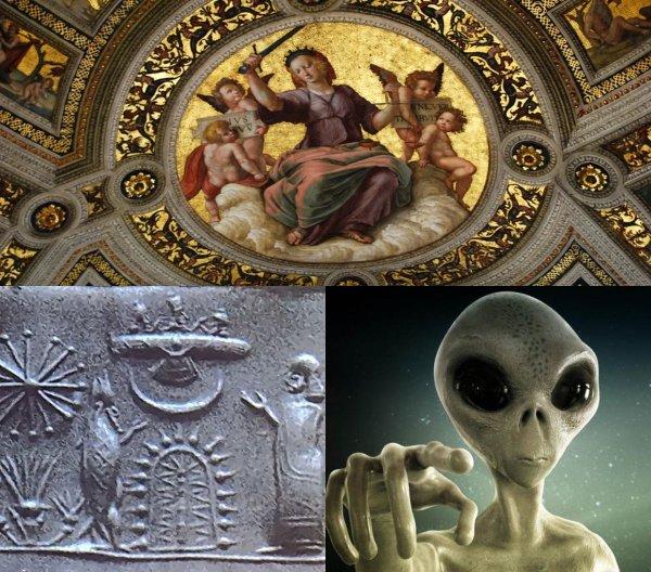Воистину аннунак: В Швеции обнаружили фреску-послание пришельцев с Нибиру