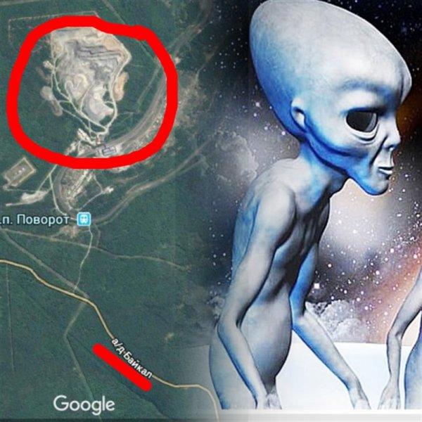 Подсказка Внеземной расы: Уфолог обнаружил около Байкала изображение пришельца с тремя ушами
