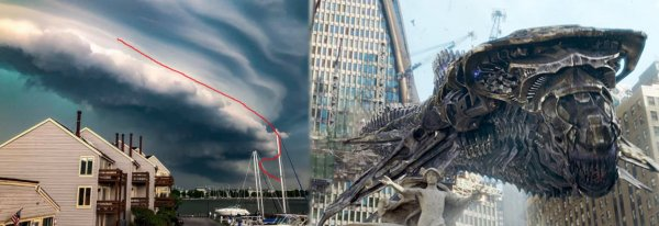 Его размеры поражают: Испуганные американцы сообщили о летающем змее-колоссе с Нибиру