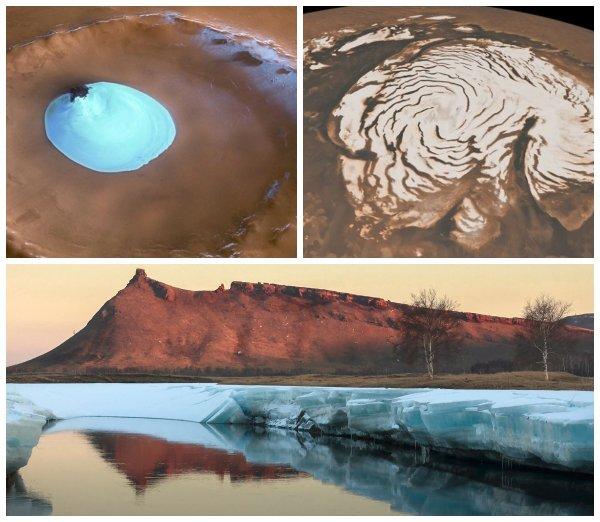 Ледяные щиты: На Марсе обнаружили крупнейший водоём – учёные